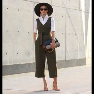 NWOT Club Monaco Torela jumpsuit in olive